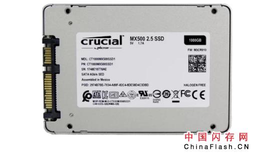 美光推出CrucialMX500系列SSD:首个64层3D TLC闪存,最高容量为2TB